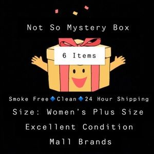 Not So Mystery Box Women's Plus Size 6 Items